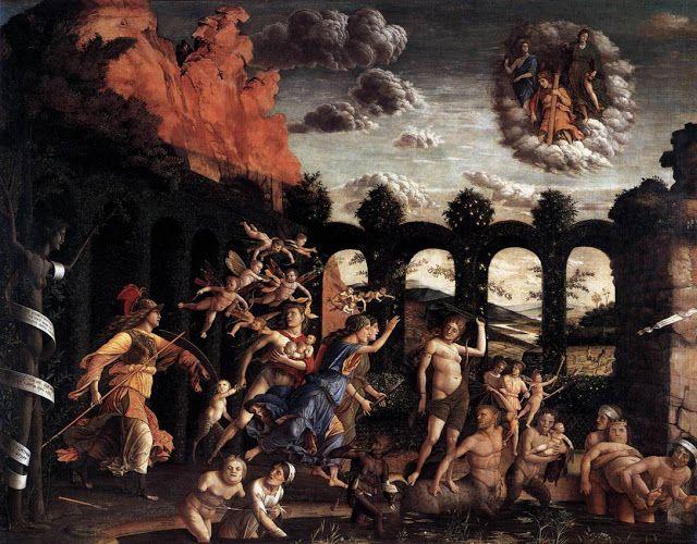 Η Παλλάς εκδιώκει τις κακίες από το Κήπο της Αρετής (Mantegna  1499-1501)