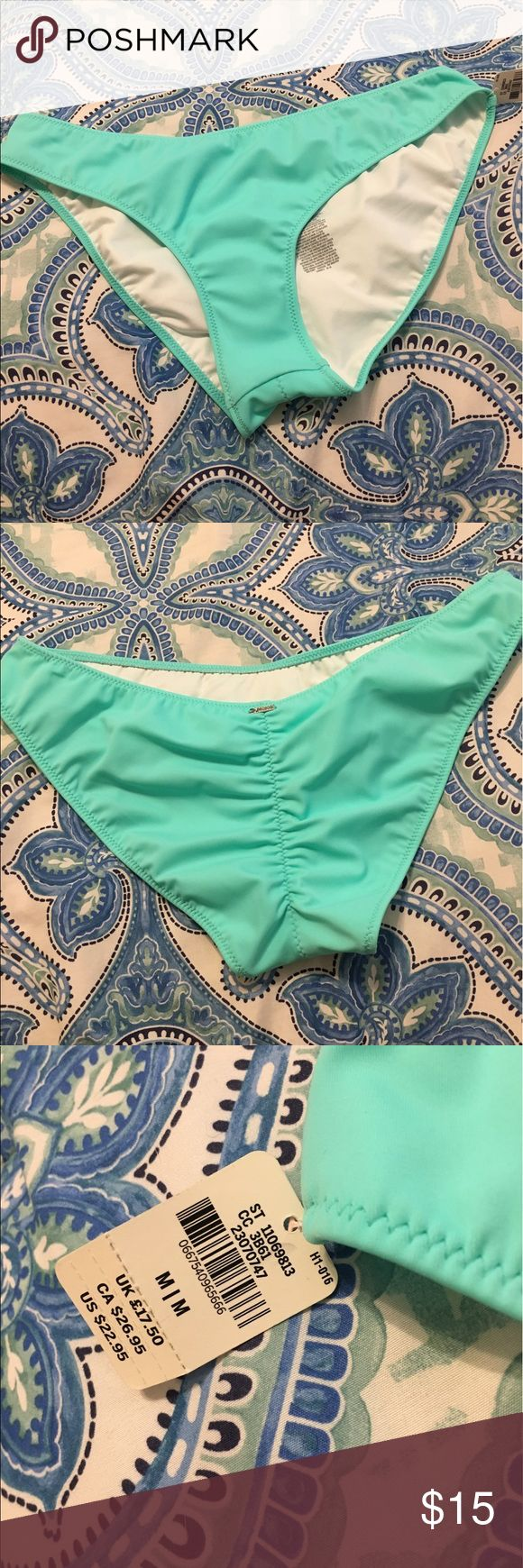 vs bikini bottoms cheeky baby blue bottoms, medium. never worn Victoria's Secret Swim Bikinis