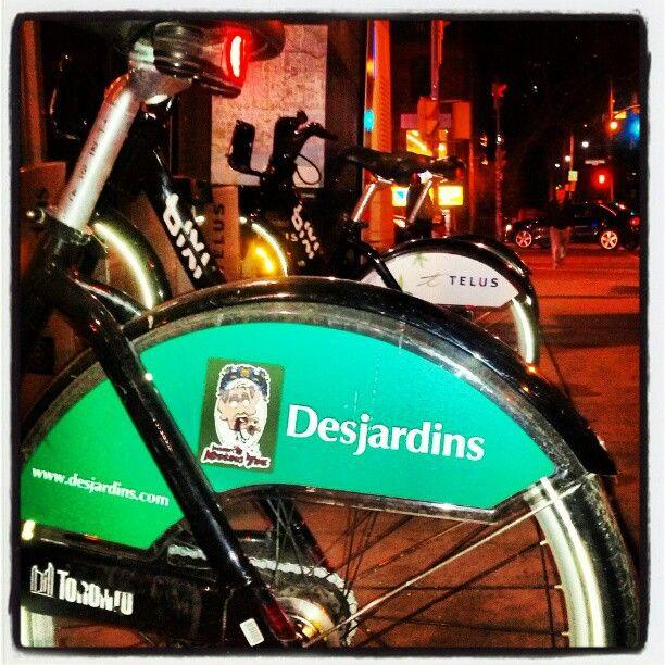Take me somewhere I need a ride! #bixi #toronto #desjardins #bank #bike #bicycle #stickers #inquestofmissingtime #streetart #transport #art #canada #guerilla #marketing #masscontrol #telus #instagramers #indie #logo