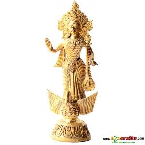 Dokra Saraswati - Dokra Sculpture - Rs 1,100 - Hand Made Crafts - Buy & Sell Indian Handmade Crafts and Handmade Jewelry and Gifts