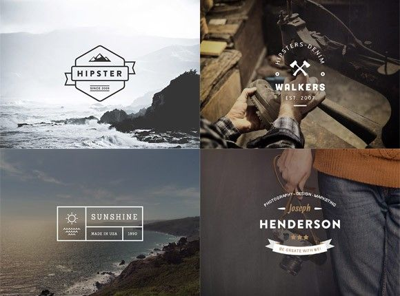 4 PSD vintage logos