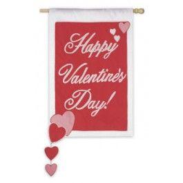 Evergreen Flag Garden Happy Valentines Day Garden Flag Deals On   Valentine  Flag Coupons,