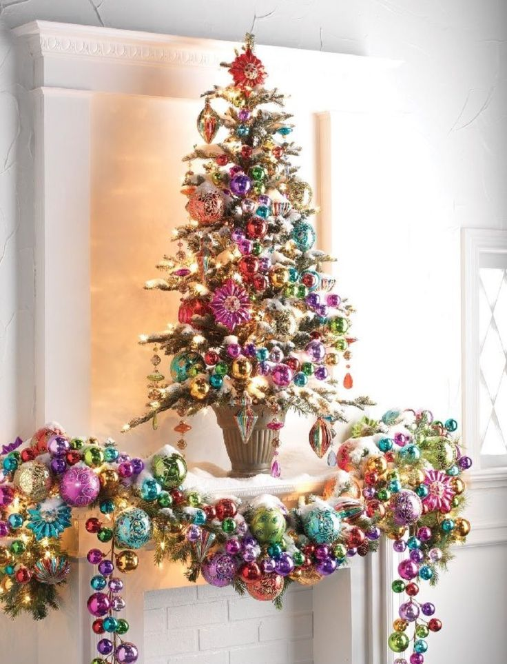 Pink Colorful Christmas 2014 Ornament Delight