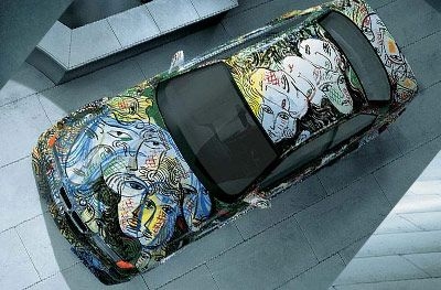 BMW 3 Series racecar art car from Sandro Chia - bmwdrives.comvehicle was not wrapped but painted