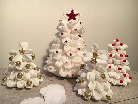 Lavoretti Di Natale Youtube.Diy How To Make 3 Christmas Decorations With Make Up Remover Pads