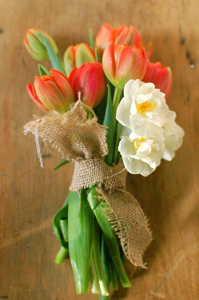 Tulip bouquet.: Spring Bouquet, Spring Flowers, Simple Bouquet, Wedding Ideas, Weddings, Bouquets, Wedding Flowers, Tulips