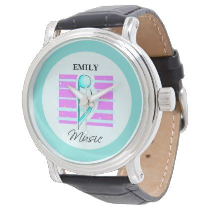 Congratulations Note Musical Performance Wristwatch - pink gifts style ideas cyo unique