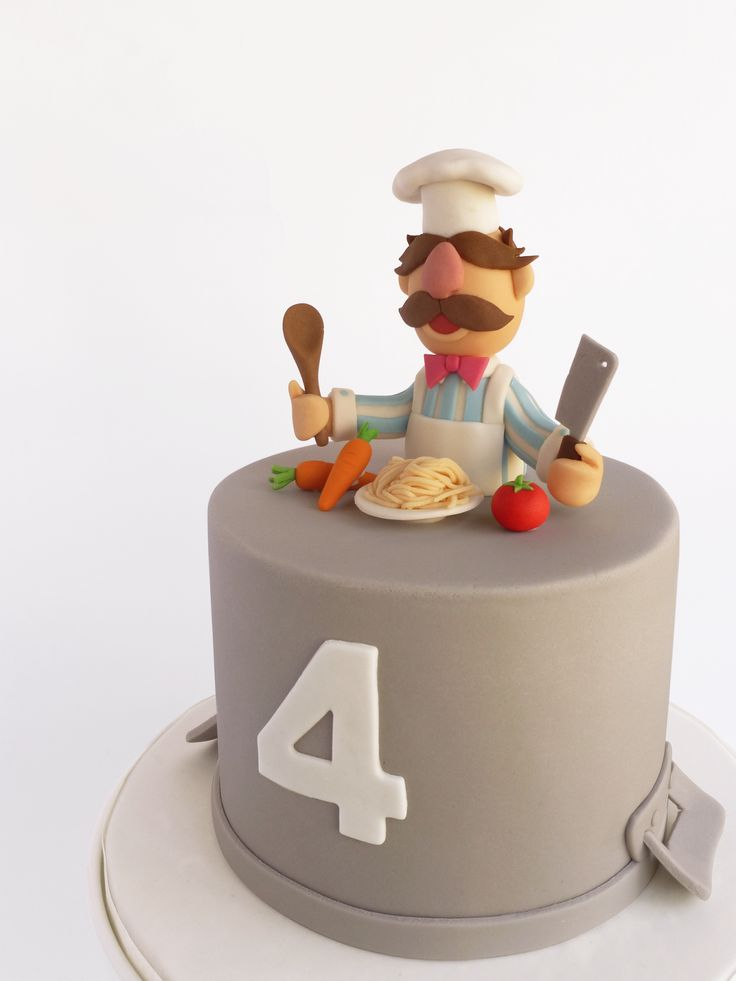 Peaceofcake ♥ Sweet Design: The Swedish Chef Cake • Bolo Cozinheiro Marretas