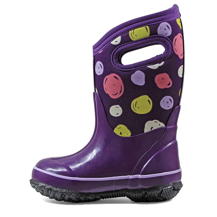 Bogs Kids' Sketched Dot Winter Boot Toddler/Pre/Grade School Boots (Purple Multi)