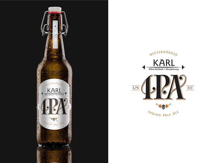 Karl handcrafted beer Indian Pale Ale label vol.2.  Mecseknádasd, Hungary