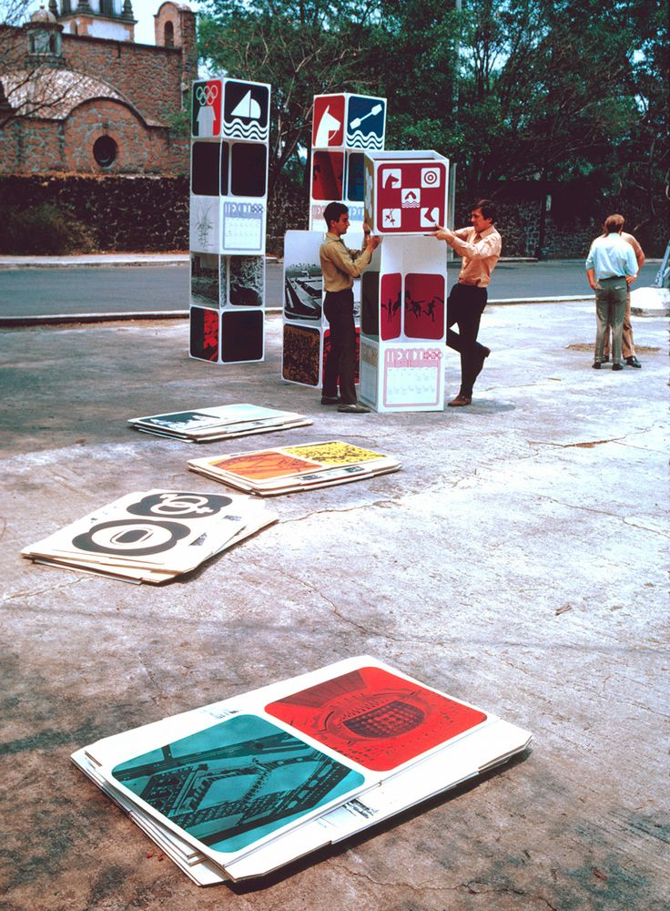 Street Installation. 68 Mexico Olympics (pulled from Graphic Ambient)