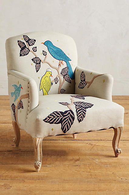 Treescape Dorrance Chair, Birds - anthropologie.com