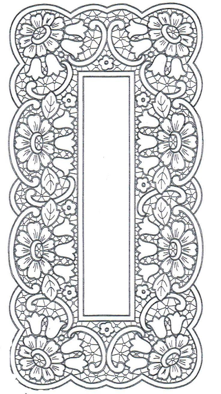 Ubrus obdélník richelieu, 97 x 48 cm