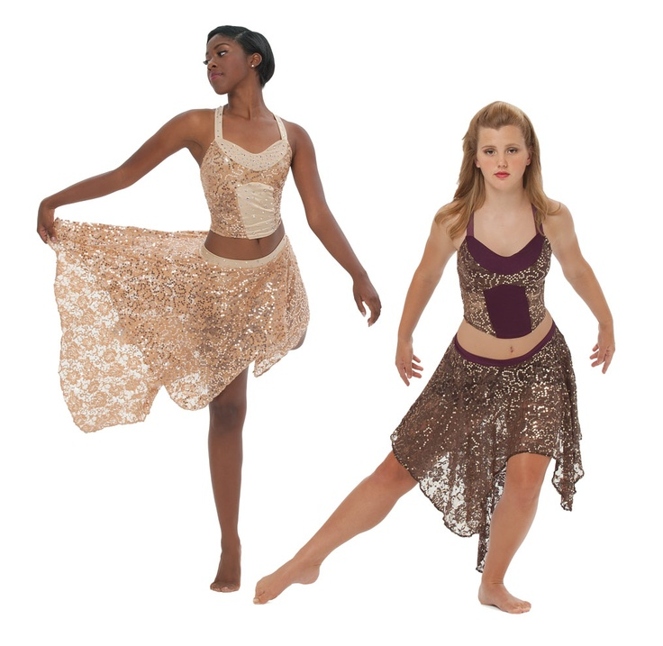 Lyric lyrical dance dresses : Gold lyrical dance dress - Dress womans life