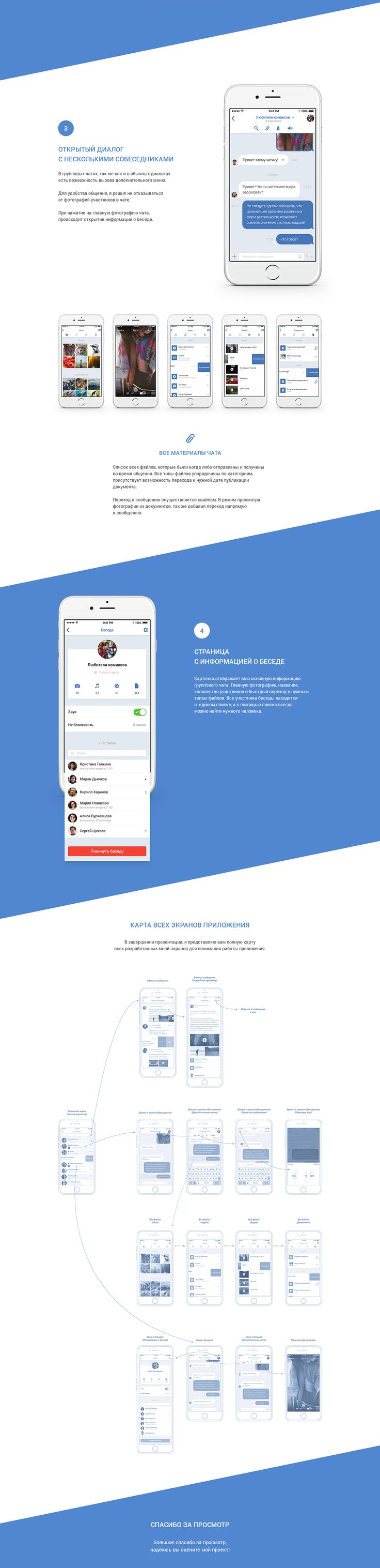 VK messenger - iOS on Behance