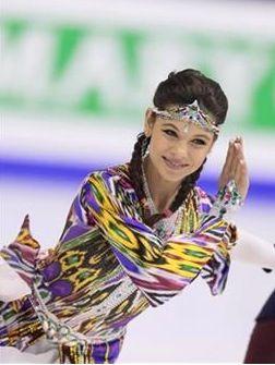 Russian ice dance skater Elena Ilinykh