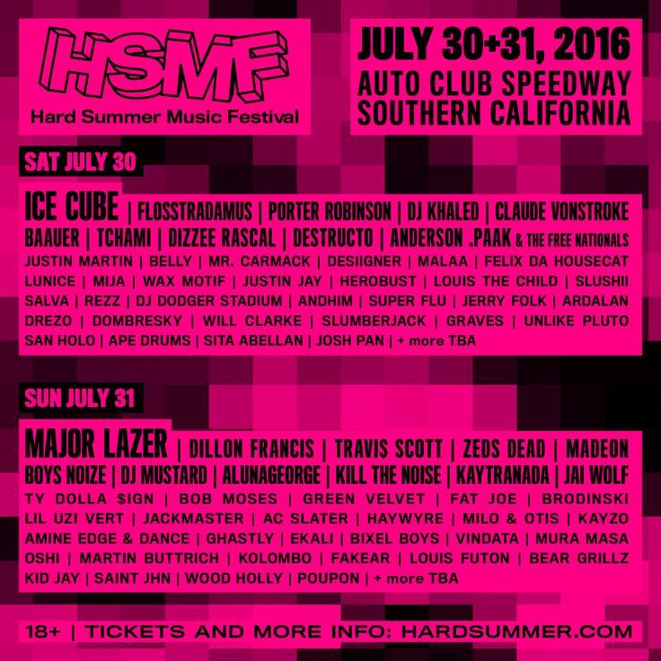 GoRockfest.Com: HARD Summer 2016 Lineup & Tickets Info