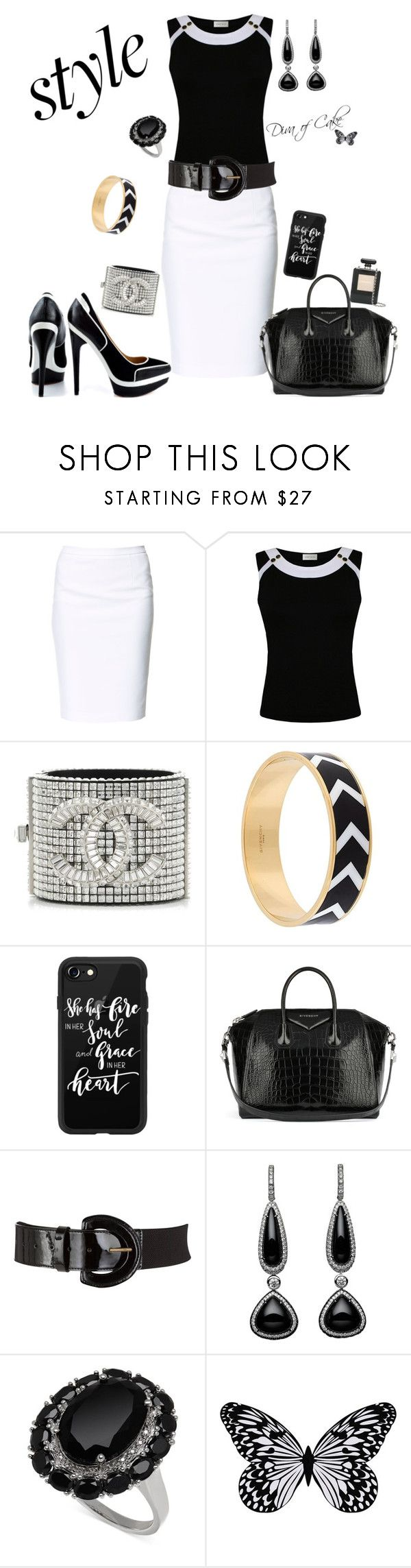 """black & White outfit"" by Diva of Cake on Polyvore featuring Zara, Minuet Petite, Fendi, Givenchy, Casetify, John Lewis, Visionnaire and Chanel"