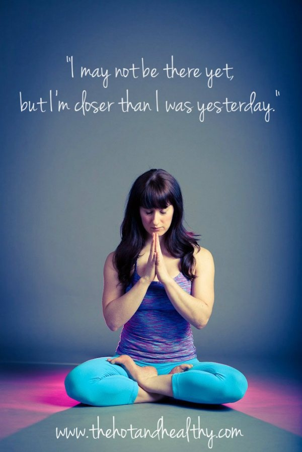 I may not be there yet, but I'm closer than i was yesterday. @thehotandhealth #namaste #yoga mackenzie miller journey
