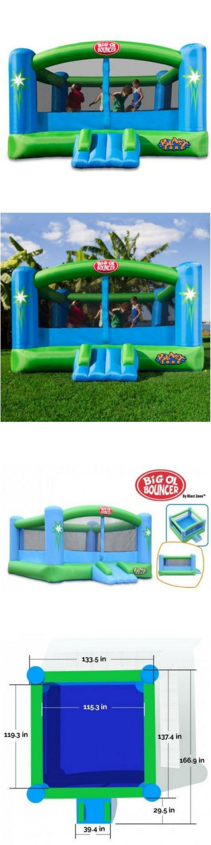 Inflatable Bouncers 145979: Inflatable Bouncer Commercial Bounce House Kids Jump Party Trampoline Blast Zone -> BUY IT NOW ONLY: $498.61 on eBay!