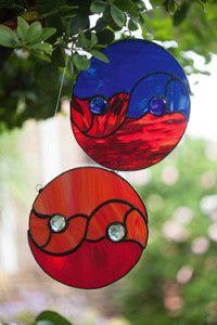 Creative Company | Classy Glass Art: Yin yang sun catcher