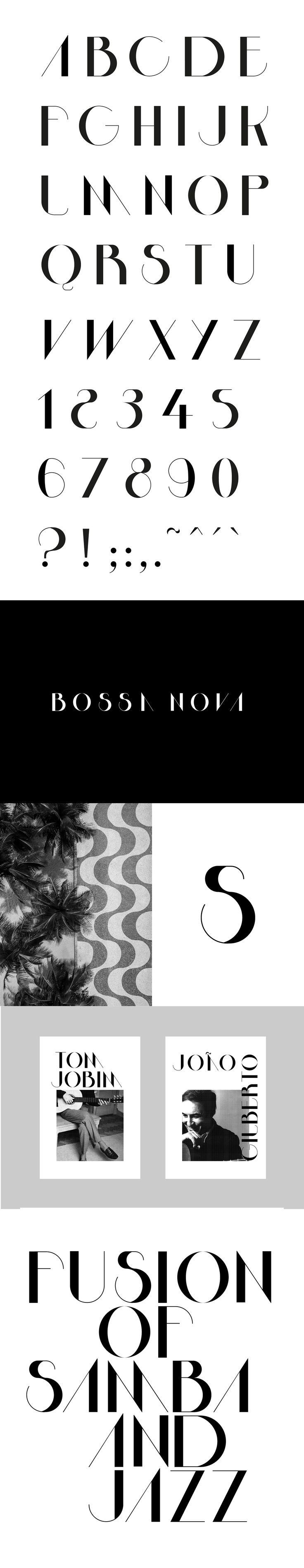 Bossa Nova Font on Behance