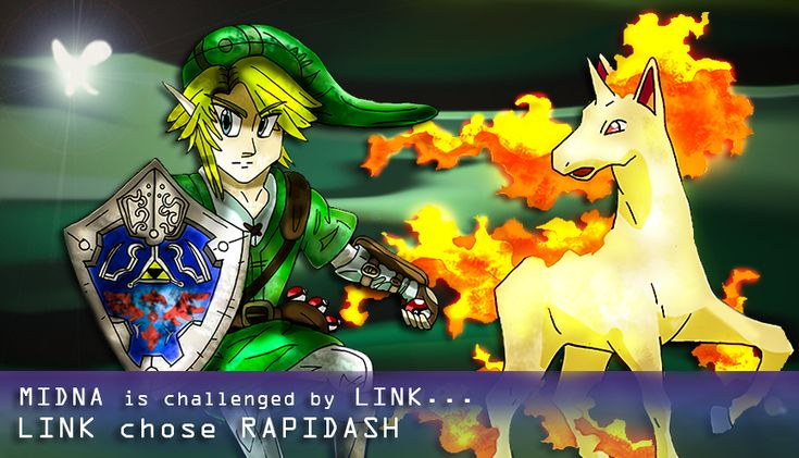Link on Pokemon Battle by Ccjay25.deviantart.com on @DeviantArt