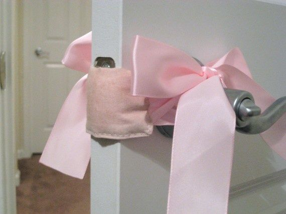 Babys Room DOOR MUFF - open and close your babys room door without making a noise... What an awesome idea to remember!