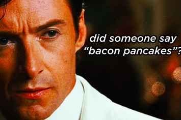 "Hugh Jackman Lip Syncing The ""Bacon Pancakes"" Song From ""Adventure Time"""
