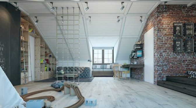 Детская комната в стиле лофт на чердаке http://www.prohandmade.ru/mebel-i-interier/detskaya-komnata-v-stile-loft-na-cherdake/