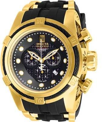 Men's Invicta JT 12955 - Black Polyurethane/Black Analog Watches  https://api.shopstyle.com/action/apiVisitRetailer?id=498553774&pid=uid8721-33958689-52
