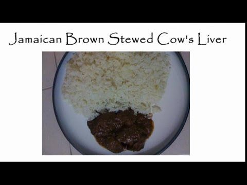 Cow Liver Recipes -  CLICK HERE for the Liver Tracker #liver #liverdiet  #liverrecipes  #liversymptoms  #livertreatment Brown stewed cow's liver with boiled green bananas is one of Jamaicans' breakfast dishes. However, it is also eaten for dinner, mainly with cooked rice. Liver is rich in iron. This is... - #Liver