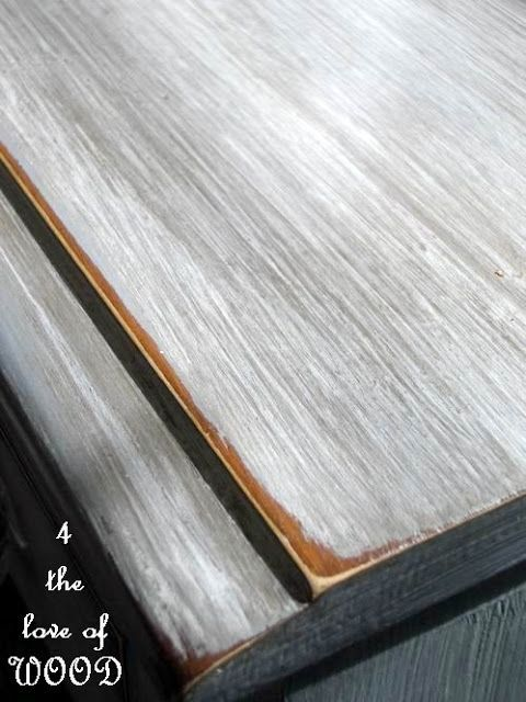 Are you looking for instruction to create a faux driftwood finish with paint? I have written a how to on creating a grey wood grain type of look on a piece of furniture. This is really a simple projec