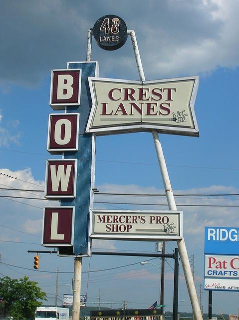 Crest Lanes Bowling Alley--Warren, Ohio by oldohioschools, via Flickr