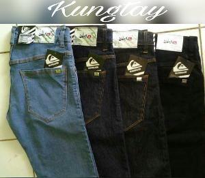 fashion pria celana jeans size 27 28 29 30 31 32 33 34 bioblitz hitam blue quick silver jeans celana skinny slimfit best seller pria K922