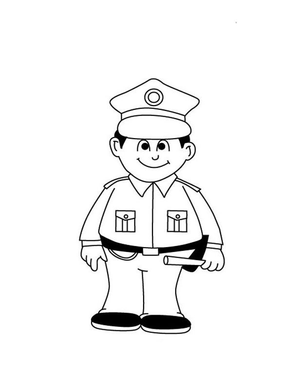 fireman and policeman coloring pages - photo #22