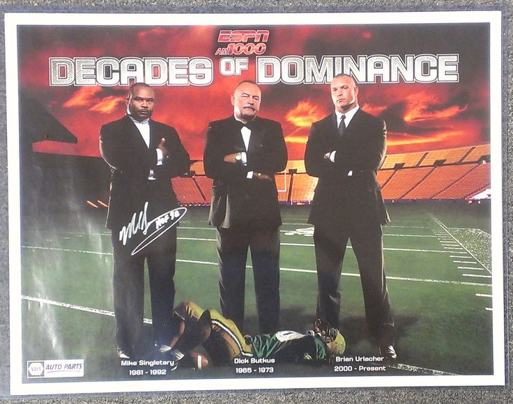 Chicago Bears Decades of Dominance Poster - Mike Singletary Autographed/Dick Butkus/Brian Urlacher w/o COA