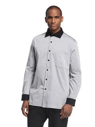 80% OFF adidas Y-3 by Yohji Yamamoto Men's Long Sleeve Shirt with Removable Collar (Multicolor/Black)