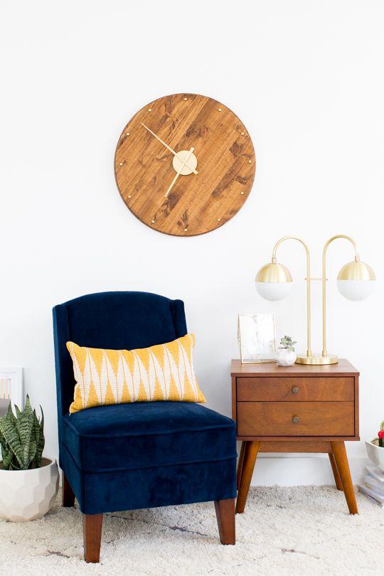 DIY mid century wall clock - sugar & cloth