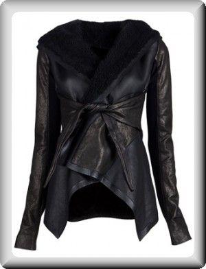 plus size coats for women | Rick Owens Women's Black Leather Plus-Size Long Jacket Coat at ...