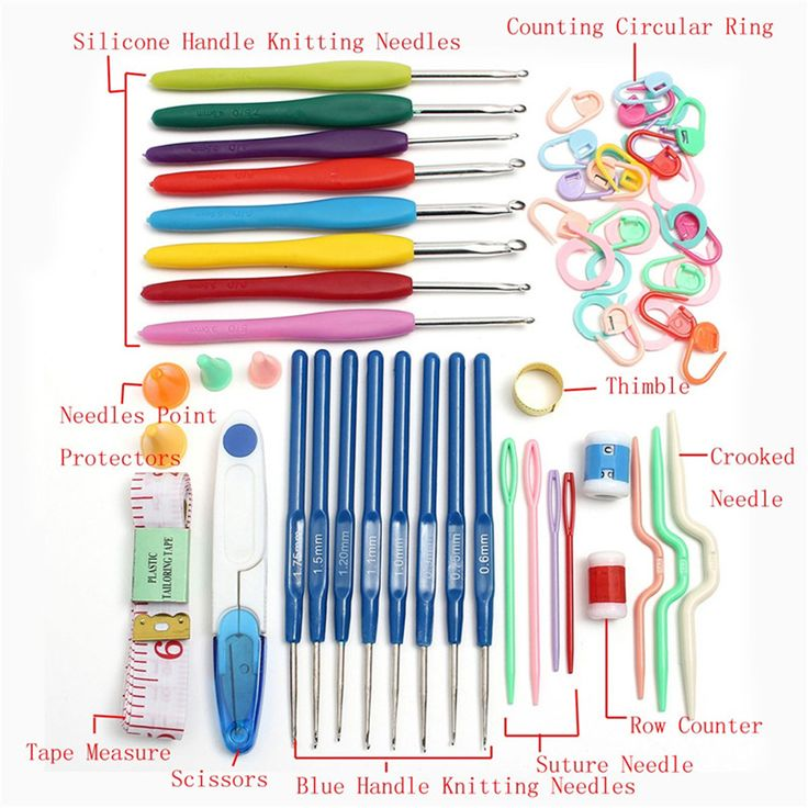 New diy 16 ukuran crochet hooks jarum jahitan knitting craft kasus crochet set alat tenun fuli