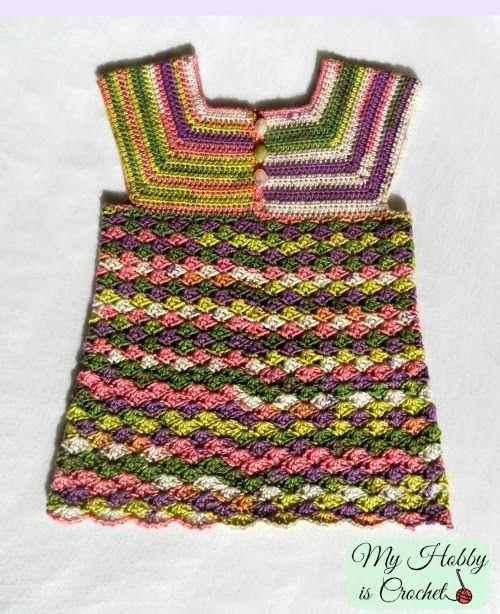 My Hobby Is Crochet: Crochet Top Iris, Child Size 3-5 Years - Free Crochet Pattern