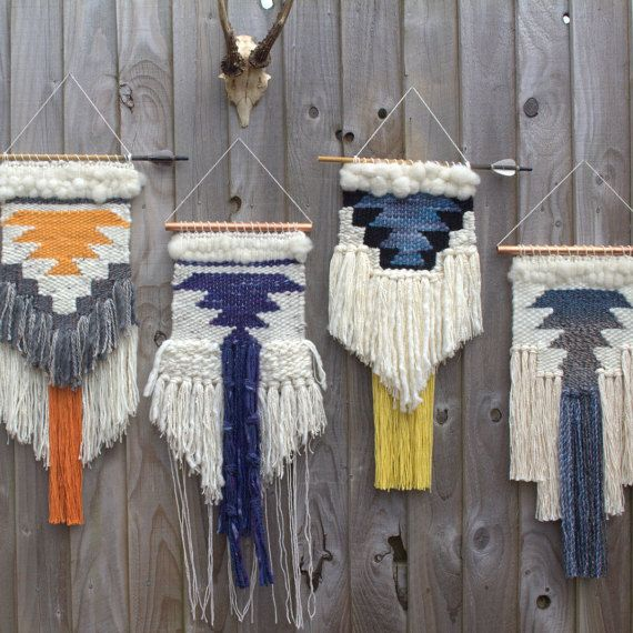 FAIT pour commander / / tissé Tenture murale / / art de tissage tapisserie tissés à la main / / Custom couleurs disponible