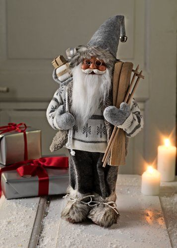 Joulupukki HERVARD K41cm valkoinen | JYSK