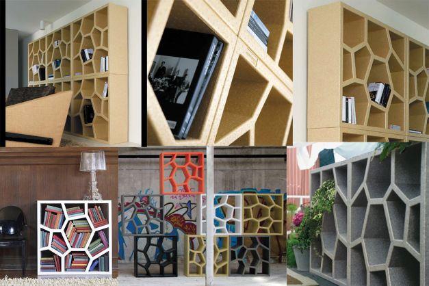 Inspiration mobilier bureau secondaire alternative dans un style plus vernaculaire et - Cloison amovible bibliotheque ...