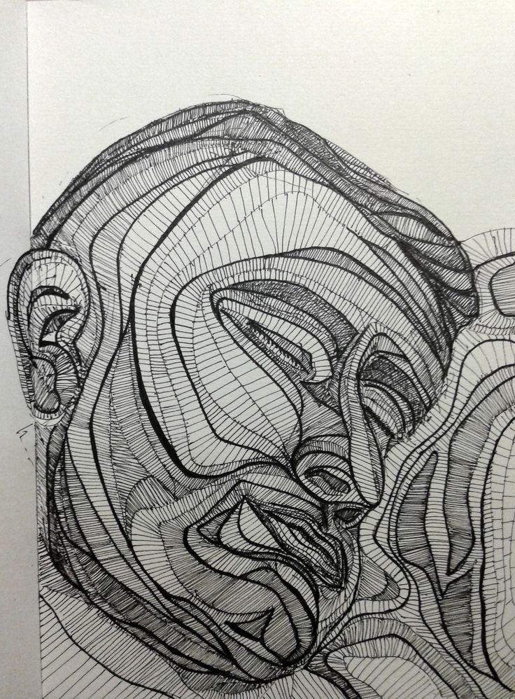 """Ink Sketch - """"Rest"""" - 2014"""