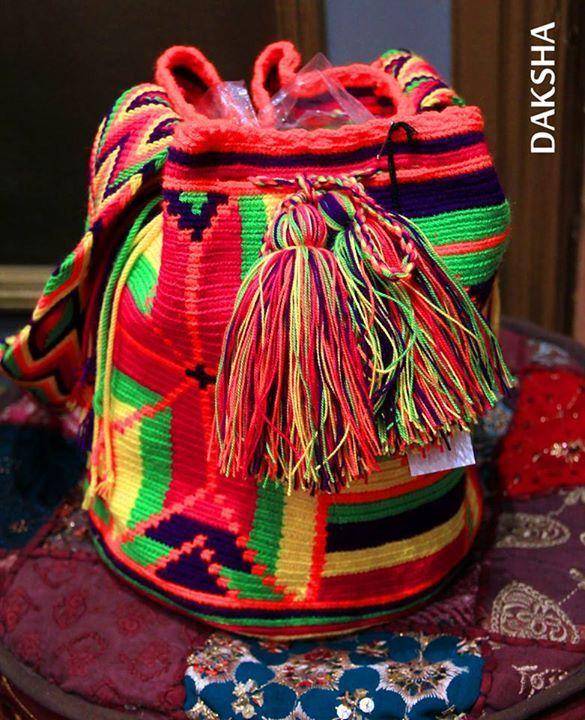 Bolso Wayuu. www.daksha.com.ar Boho chic. Hippie chic. India. Tailandia.