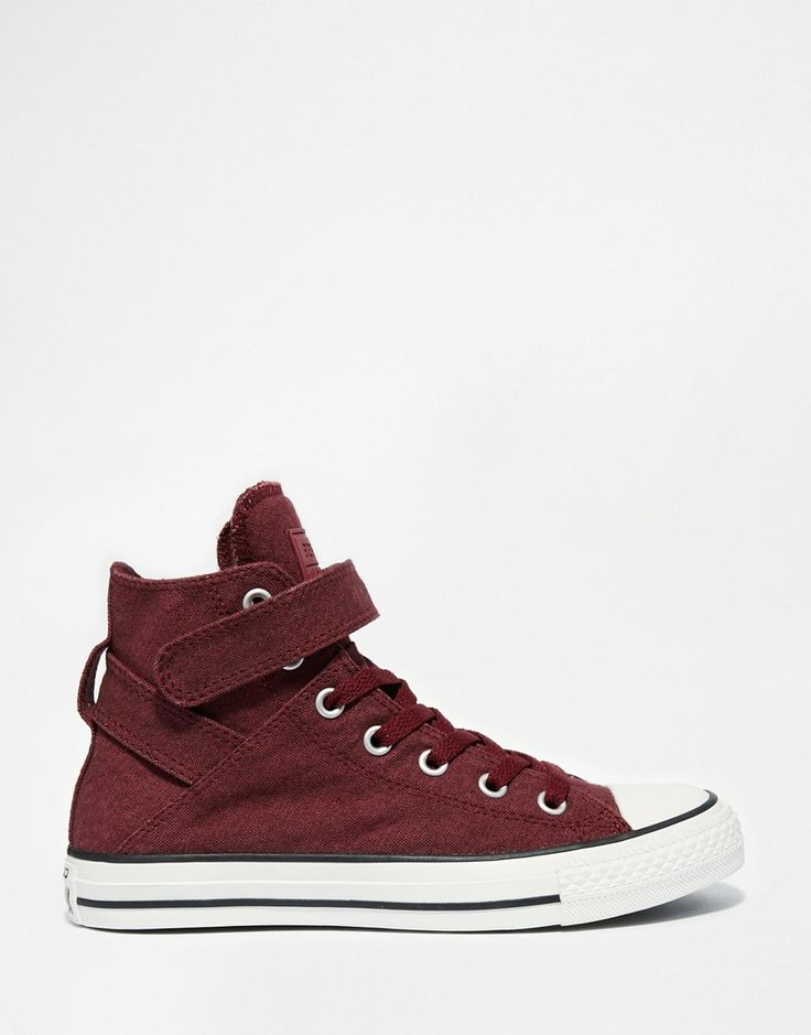Image 1 of Converse Burgundy Canvas Chuck Taylor All Star High Top Trainers