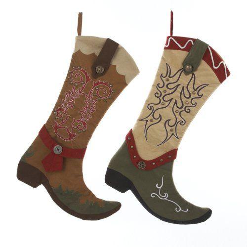 western/cowboy christmas stocking   Cowboy Boot Christmas Stockings - Western Christmas Stockings