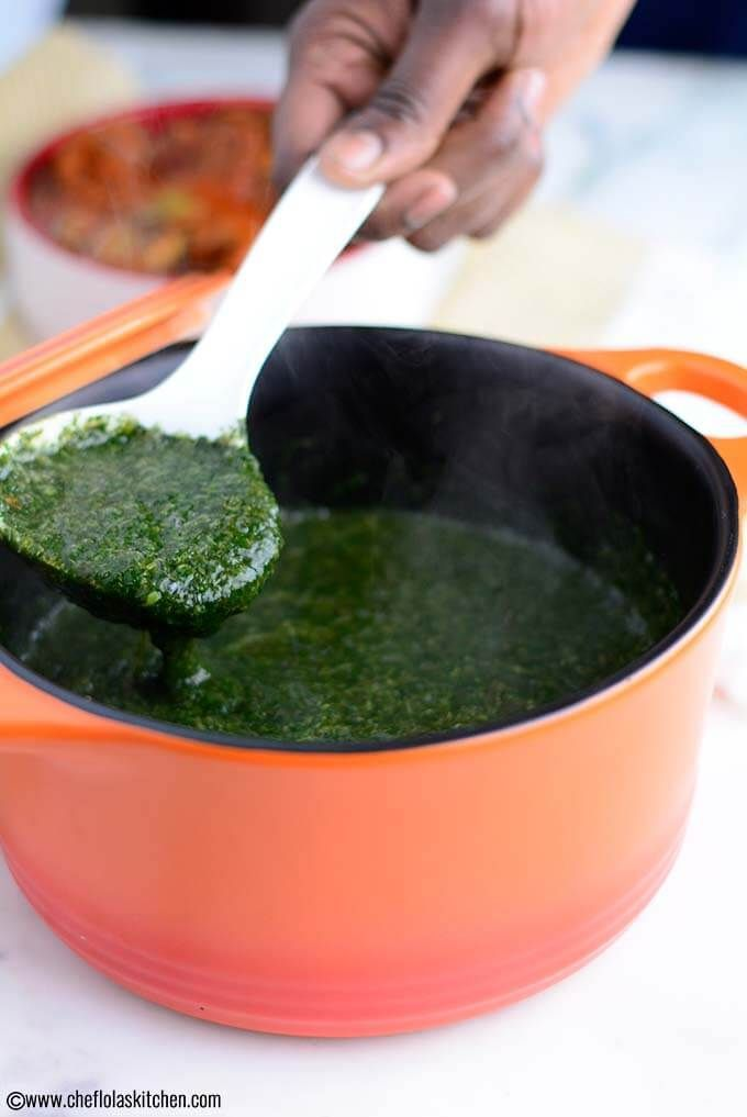 Jute Leaves Soup Also Known As Mulukhiyah Or Ewedu Is A Very Healthy Soup Which Is Very Popular In The Middle Ea Middle East Recipes African Food Egyptian Food